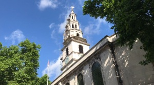 St Clement Danes church in the Strand