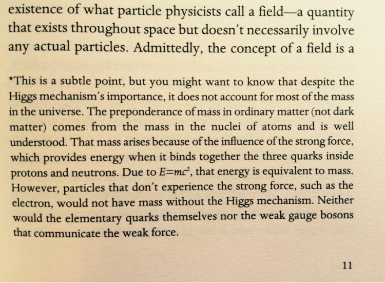 Higgs field footnote