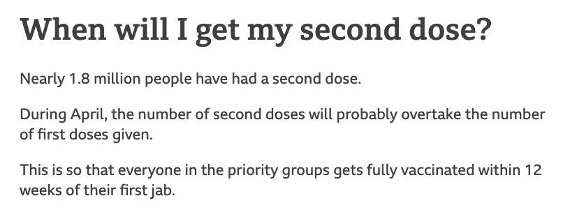 Second vaccination dose assurance